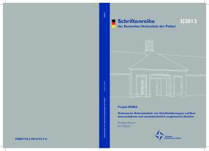 Schriftenreihe der Deutschen Hochschule der Polizei