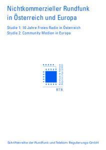 Schriftenreihe der Rundfunk und Telekom Regulierungs-GmbH