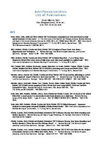 Schriftenverzeichnis List of Publications