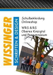 Schulbekleidung Onlineshop WRS & RS Oberes Kinzigtal und Progymnasium