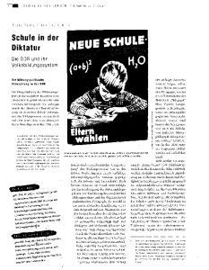 Schule in der Diktatur