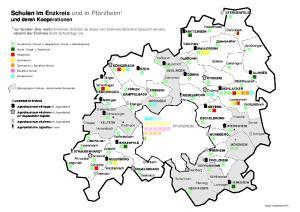 Schulen im Enzkreis und in Pforzheim 1 und deren Kooperationen