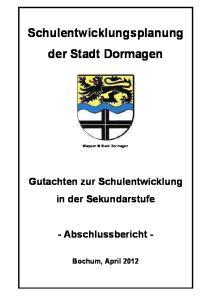 Schulentwicklungsplanung der Stadt Dormagen