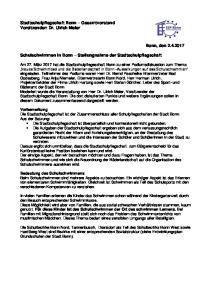 Schulschwimmen in Bonn Stellungnahme der Stadtschulpflegschaft