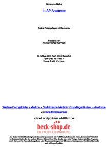 Schwarze Reihe. 1. ÄP Anatomie. Original-Prüfungsfragen mit Kommentar. Bearbeitet von Andrea Drechsel-Buchheidt