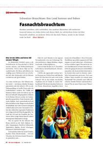 Schweizer Brauchtum: Das Land kennen und lieben