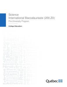 Science International Baccalaureate (200.Z0)