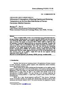 Science of Sintering, 37 (2005)