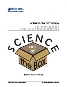 SCIENCE OUT OF THE BOX