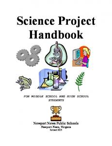 Science Project Handbook FOR MIDDLE SCHOOL AND HIGH SCHOOL STUDENTS