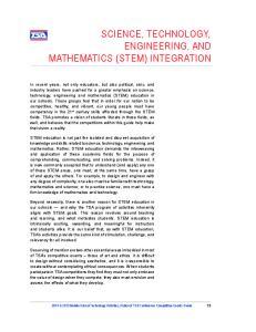 SCIENCE, TECHNOLOGY, ENGINEERING, AND MATHEMATICS (STEM) INTEGRATION