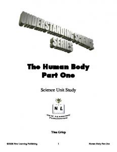 Science Unit Study. Tina Griep. Human Body Part One