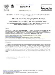 ScienceDirect. LIFE Cycle Habitation - Designing Green Buildings