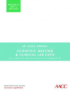 SCIENTIFIC MEETING & CLINICAL LAB EXPO