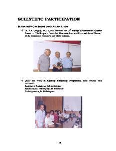 SCIENTIFIC PARTICIPATION