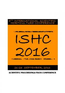 SCIENTIFIC PROCEEDINGS FROM CONFERENCE