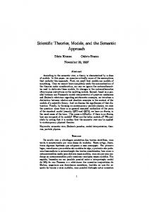 Scientific Theories, Models, and the Semantic Approach