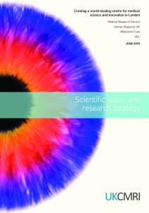 Scientific vision and research strategy