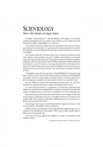 SCIENTOLOGY Hacer del mundo un lugar mejor