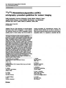 scintigraphy: procedure guidelines for tumour imaging