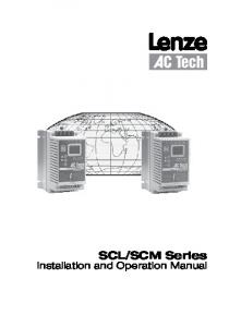 SCM Series. Installation and Operation Manual