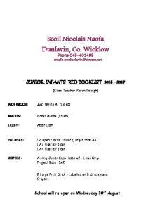 Scoil Nioclais Naofa Dunlavin, Co. Wicklow