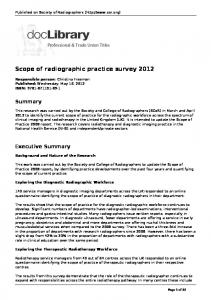 Scope of radiographic practice survey 2012