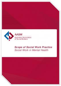 Scope of Social Work Practice Social Work in Mental Health