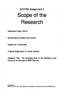 Scope of the Research