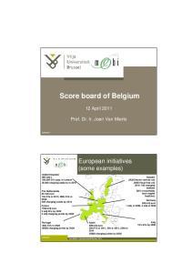 Score board of Belgium