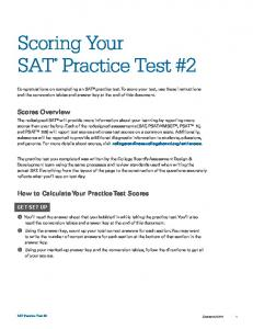 Scoring Your. Scores Overview. How to Calculate Your Practice Test Scores GET SET UP