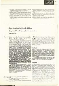 Scorpionism in South Africa