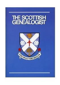 SCOTTISH GENEALOGIST CUMULATIVE INDEX