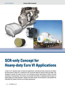SCR-only Concept for Heavy-duty Euro VI Applications