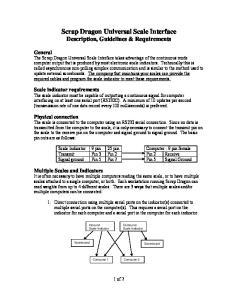Scrap Dragon Universal Scale Interface Description, Guidelines & Requirements