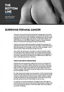 SCREENING FOR ANAL CANCER