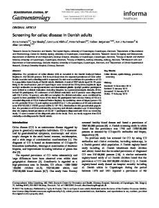 Screening for celiac disease in Danish adults