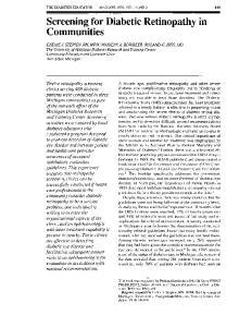 Screening for Diabetic Retinopathy in