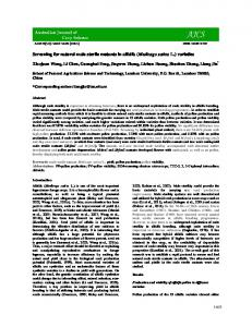 Screening for natural male sterile mutants in alfalfa (Medicago sativa L.) varieties
