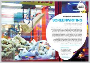 SCREENWRITING TITLE COURSE ACCREDITATION GUIDELINES FOR APPLICATION AND ACCREDITATION CRITERIA