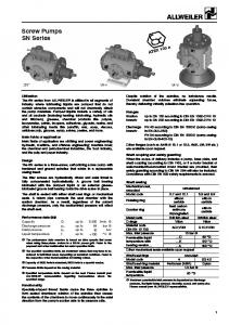 Screw Pumps SN Series