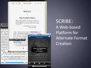 SCRIBE: A Web-based Platform for Alternate Format Creation