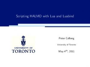 Scripting HALMD with Lua and Luabind