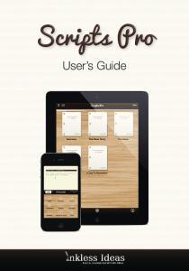 Scripts Pro. User s Guide