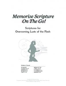 Scriptures for Overcoming Lusts of the Flesh