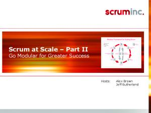 Scrum at Scale Part II Go Modular for Greater Success