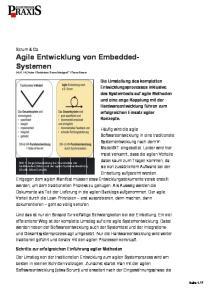 Scrum & Co. Agile Entwicklung von Embedded- Systemen
