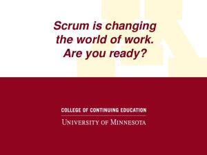 Scrum is changing the world of work. Are you ready?