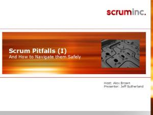 Scrum Pitfalls (I) And How to Navigate them Safely