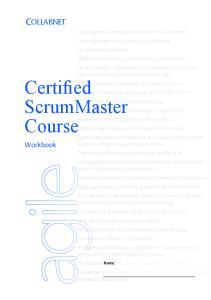 ScrumMaster Course. Workbook. Name:
